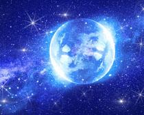 梦幻星空∴地球PSD素材