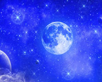 蓝色梦幻地�球PSD素材