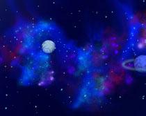 蓝色宇宙星空PSD素材