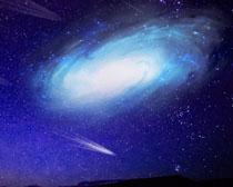 天空流星背景PSD素材