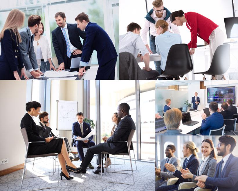 职场商务人士讨论会议摄影高清图片