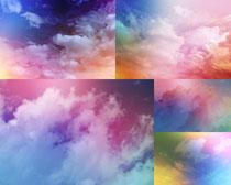 色彩云朵攝影高清圖片