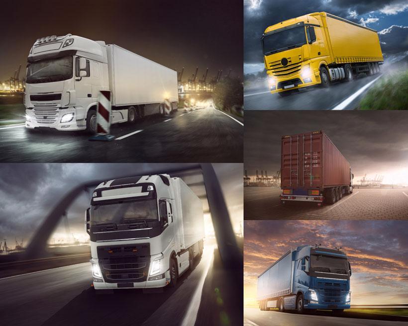 国外大型货车运输摄影高清图片