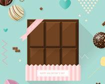 浪漫甜品巧克力PSD素材