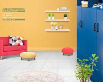 韩式家具布置PSD素材