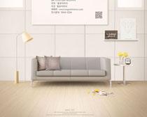 韩式沙发家具布置PSD素材
