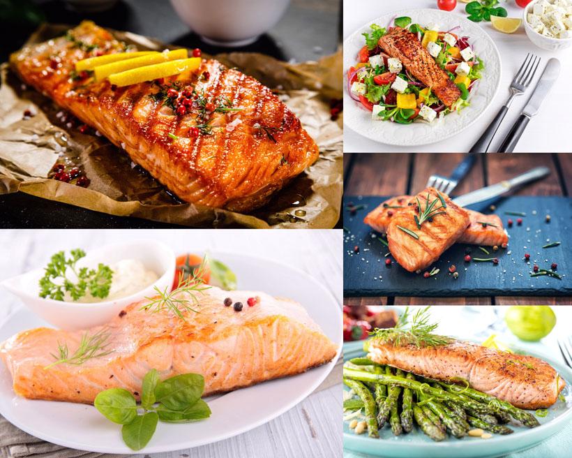 烧烤鱼排食物摄影高清图片