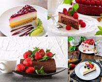 草莓与蛋糕食物摄影高清图片