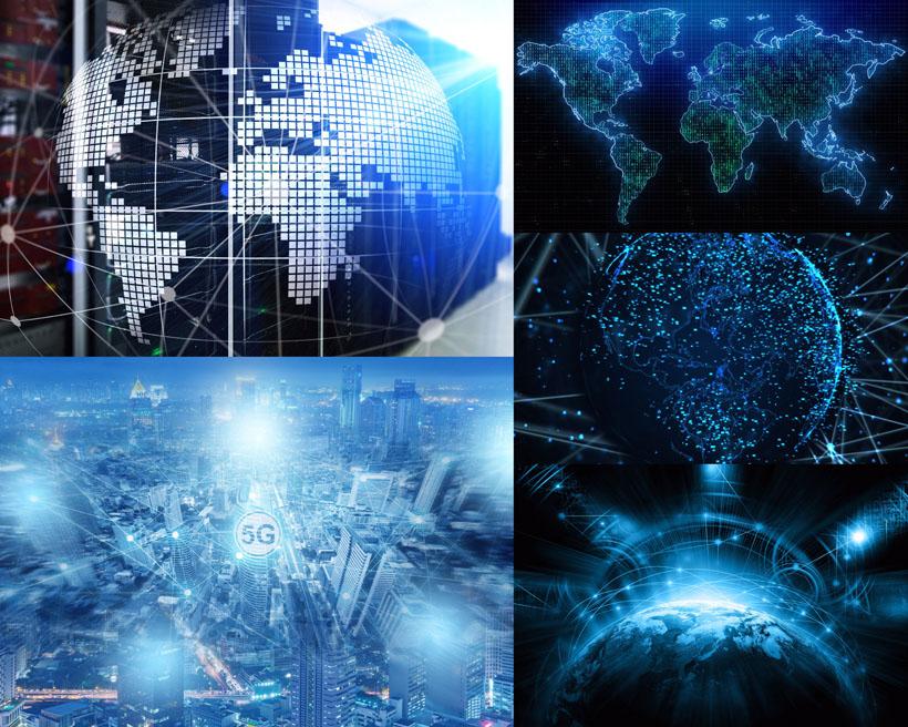 星空地球商务背景PSD素材