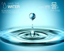 水滴環境保護海報PSD素材