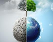 地球森林环保PSD素材