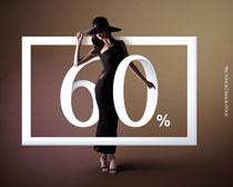 时装模特女性展示PSD素材