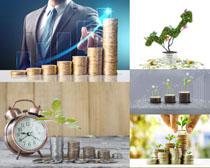 金币金融商务摄影高清图片