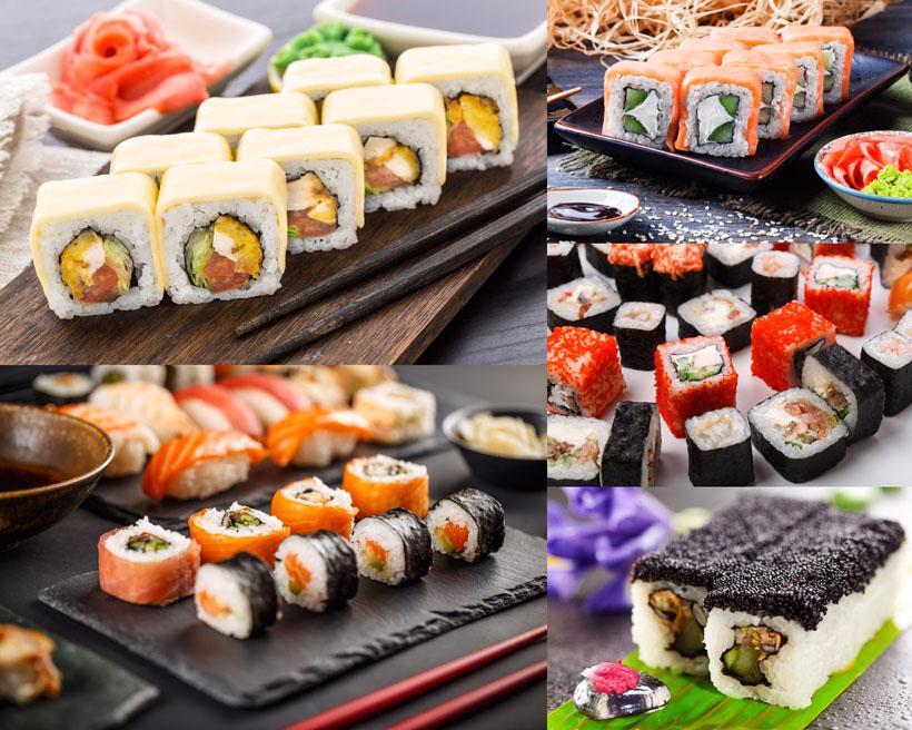 美食寿司展示摄影高清图片