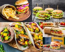 早餐汉堡包食物摄影高清图片