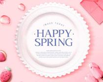 盘子花朵食物广告PSD素材