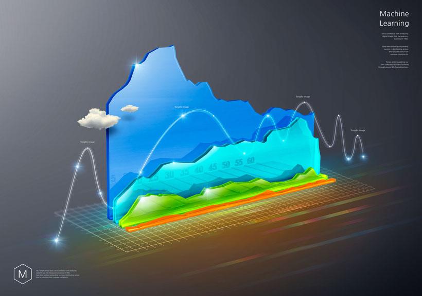 科技海拔展示PSD素材