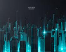 科技城市背景PSD素材