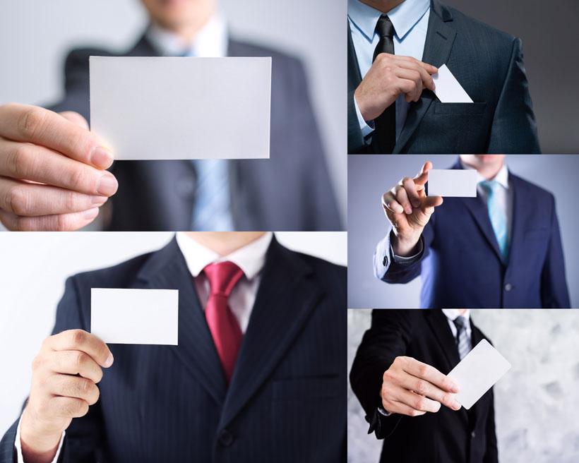 名片与商务男士摄影高清图片
