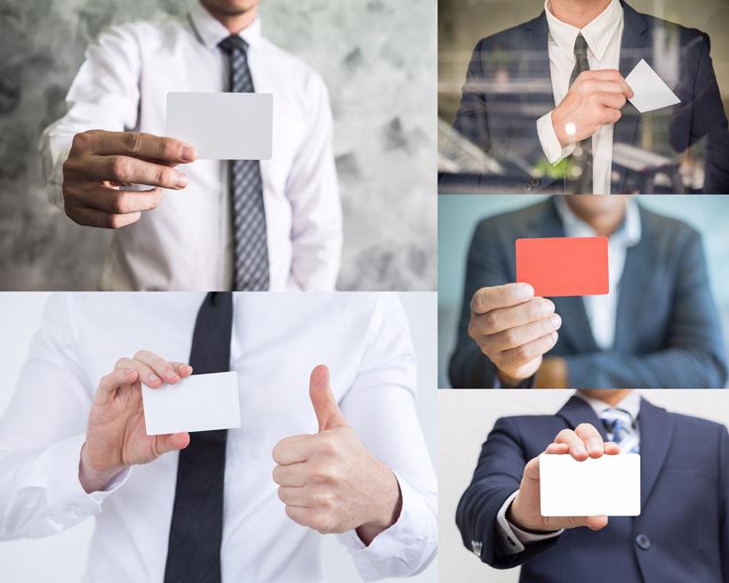 卡片展示商务男人摄影高清图片