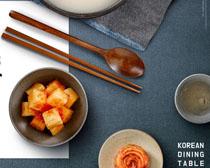 餐具与韩国泡菜海报PSD素材