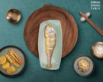 韩国美食菜展示PSD素材