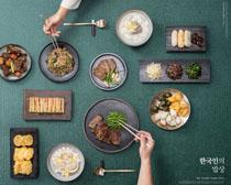 韩国菜展示广告PSD素材