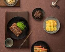 韩国菜展示PSD素材