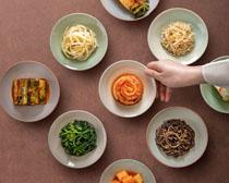 韩国菜美食展示PSD素材