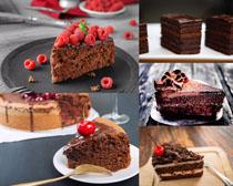 巧克力蛋糕水果摄影高清图片