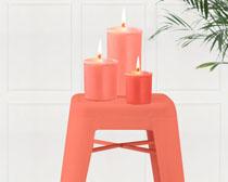 蜡烛凳子PSD素材