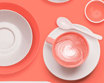 餐具咖啡杯PSD素材