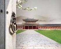 中国建筑古典风PSD素材