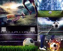 足球比賽場地攝影高清圖片