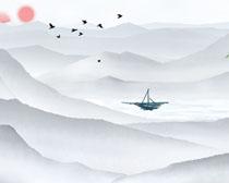 湖水风景水墨绘画时时彩投注平台