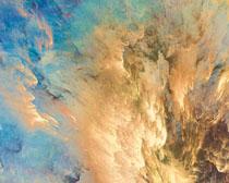 绘画色彩云背景PSD素材