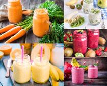 蔬菜新鲜果汁摄影高清图片