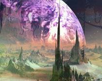 地球仙境风景PSD素材