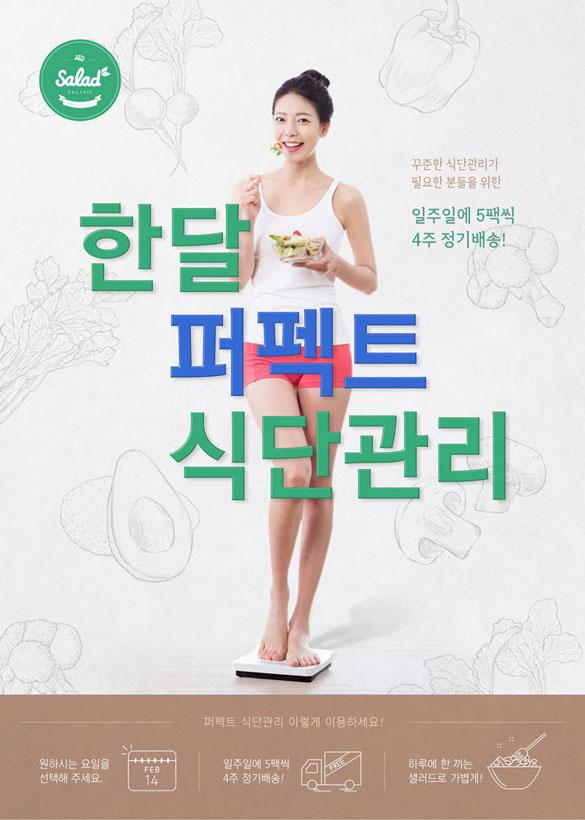 韩国瘦身美女营养广告PSD素材