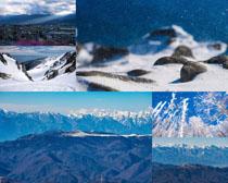 山峰雪景风光摄影高清图片