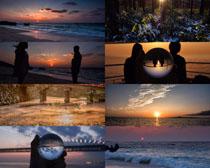 大海夕阳风光摄影高清图片