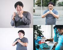 开心娱乐胖子摄影高清图片