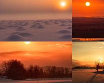 夕阳夜色风光摄影高清图片