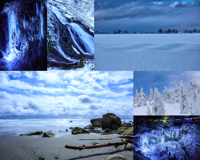 漂亮的雪景攝影高清圖片