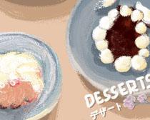 油画食物艺术PSD素材
