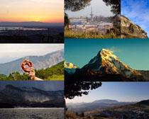 山峰风光摄影高清图片