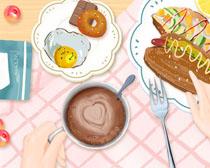绘画之营养早餐PSD素材