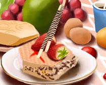 营养早餐食物展示PSD素材