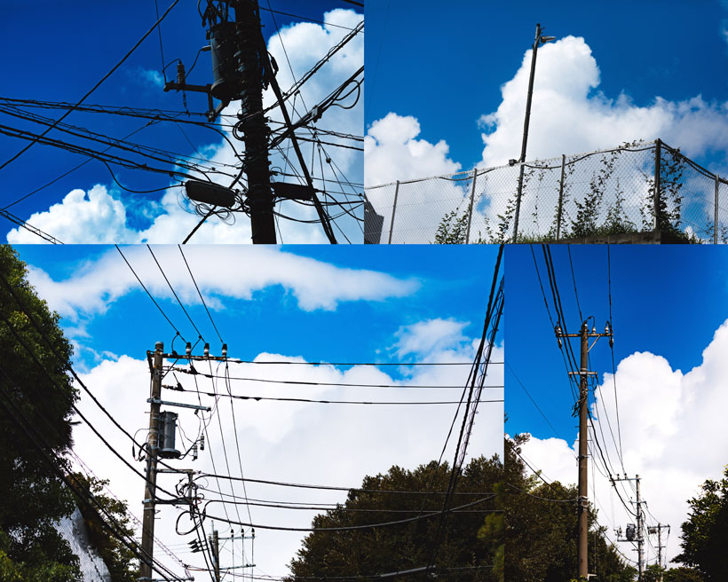 爱图首页 高清图片 自然风光 > 素材信息   关键字: 风景电线杆白云