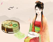 水彩艺术中国风PSD素材